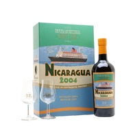 Nicaragua 2004 10+2 Years Old Transcontinental Line Rum With Glasses Set by La Maison Du Whisky 700ml