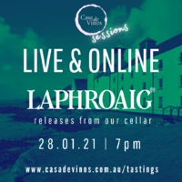 Live & Online Laphroaig Releases from our Cellar Whisky Tasting