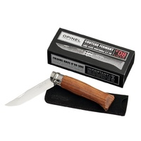 Opinel No 8 Stainless Steel Knife Padouk Handle