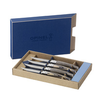 Opinel Steak Knives - set of 4 - 3 different types - Gift Boxed