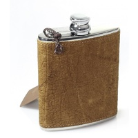Max Capdebarthes Flask 6oz (Ostrich Skin) - Gift Boxed