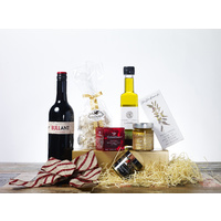 Gourmet Food Christmas Gift Hamper - A Little Gourmet with Wine