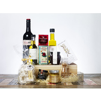 Gourmet Food Christmas Gift Hamper - A lotta Gourmet with Wine