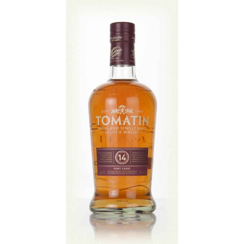 Tomatin Classic 14 Years Old Port Cask Single Malt Scotch Whisky 700ml
