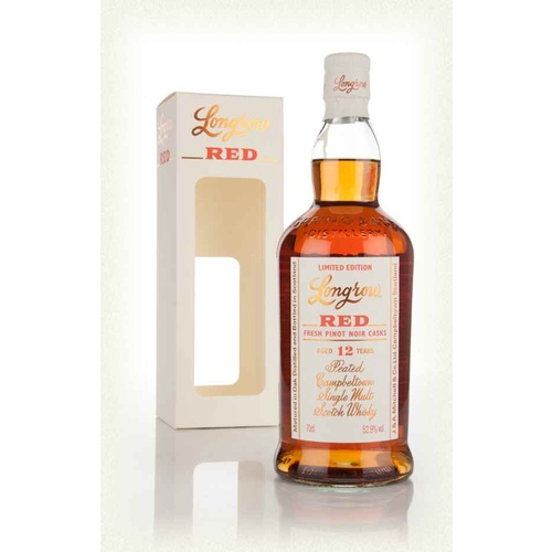 Longrow Red 12yo Pinot Noir Cask Single Malt Whisky 750ml