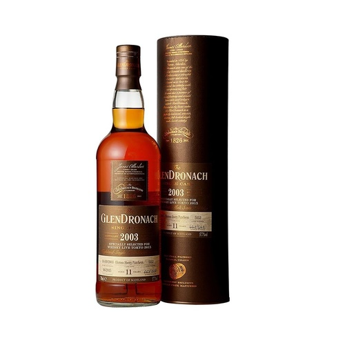 Glendronach 2003 for Whisky Live Japan Single Malt Scotch Whisky 700ml