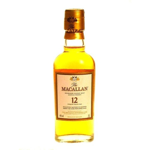 The Macallan 12yo Sherry Oak Single Malt Whisky 50ml