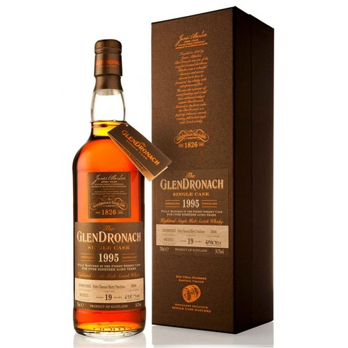 Glendronach 19yo 1995 PX Puncheaon Single Cask Single Malt Whisky 700ml