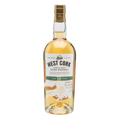 West Cork 10yo Irish Single Malt Whiskey 700ml