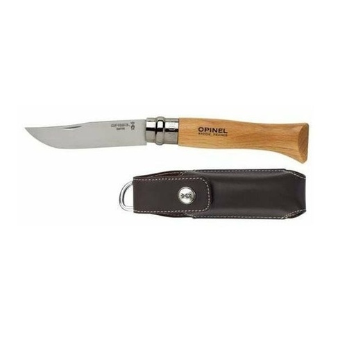 Opinel Knife No 8 Stainless Steel + Sheath and Giftbox